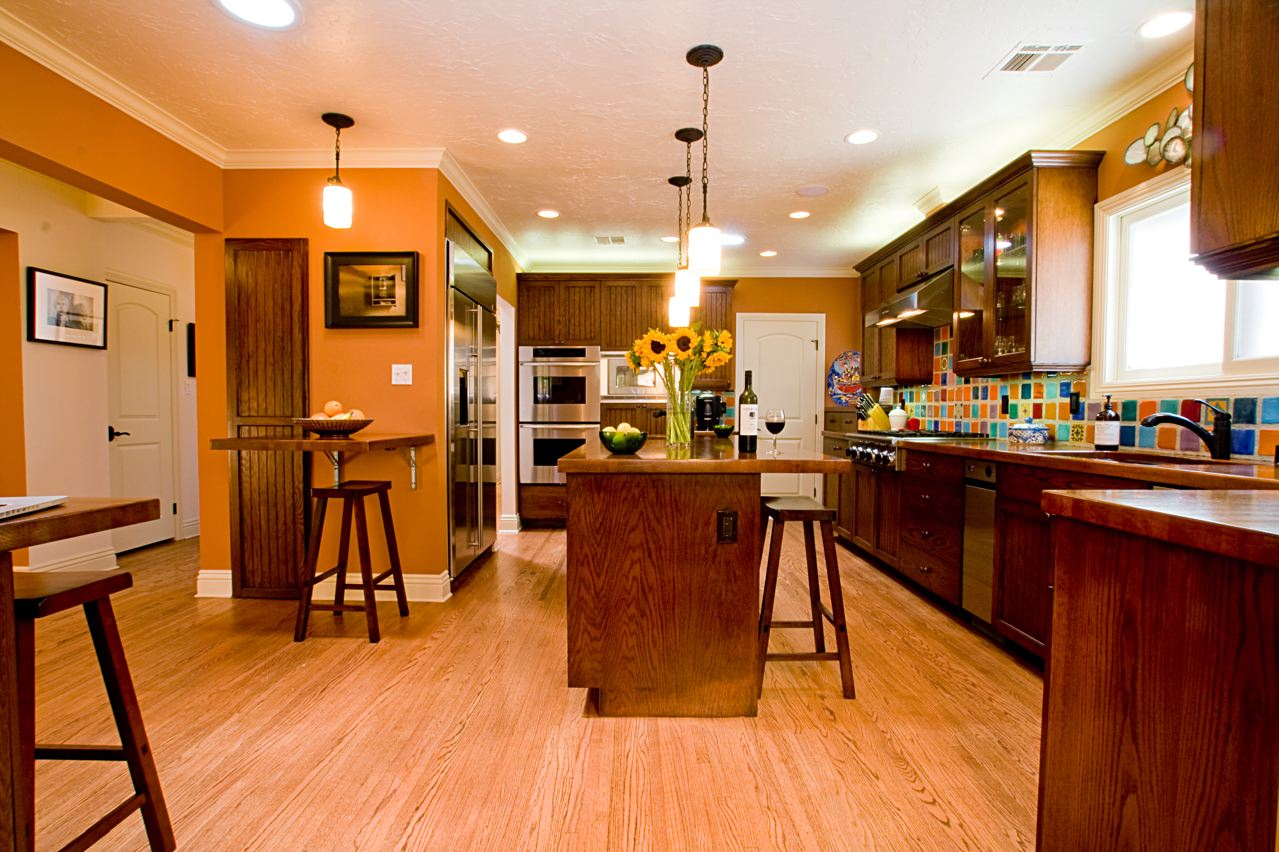 Orange Kitchens Pictures to pin on Pinterest